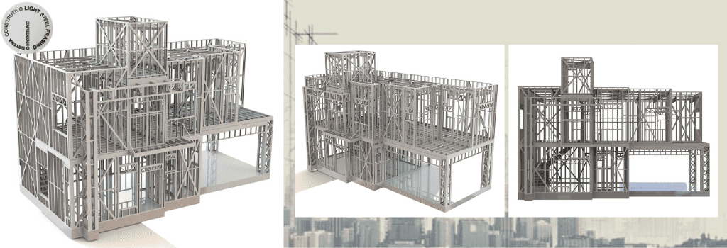 Visualizador 3D em Light Steel Framing