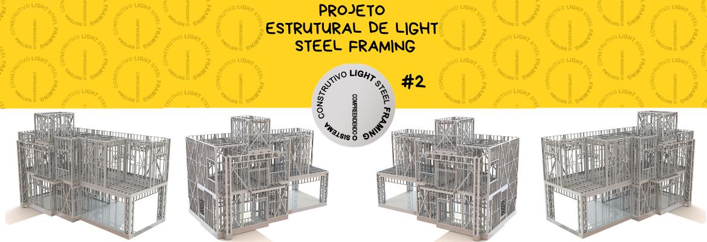 Cabeçalho Postagem Projeto Estrutural em Light Steel Framing